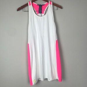 Ralph Lauren White/Hot Pink Tennis Dress Sz Small